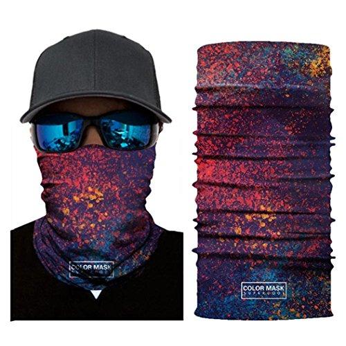 (LiPing Microfiber Premium Sunscreen Cycling Motorcycle Head Scarf Neck Warmer Face Mask Ski Balaclava Headband Powerful UV-blocking Spf)