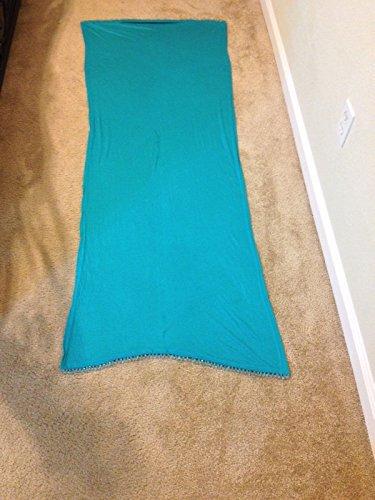 Chanel Scarf (Original Designer light Blue with Beads LYCRA Hijab Islamic Head Scarf Hejab)