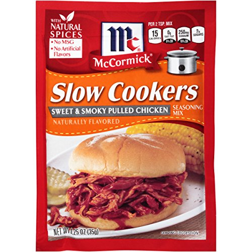 Chicken Pork - McCormick Slow Cookers Sweet & Smoky Chicken Seasoning Mix, 1.25 oz (Pack of 12)