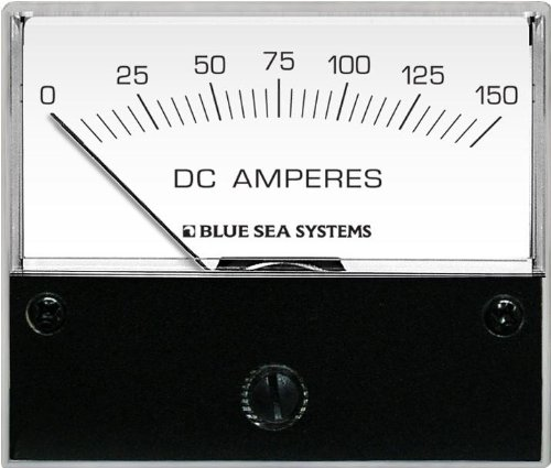 Blue Sea Systems 8018 DC Analog Ammeter (2 3/4-Inch Face, 0-150 Amperes DC)