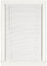 Achim Home Furnishings Deluxe Sundown 1-Inch Blind, 35-Inch by 64-Inch, White