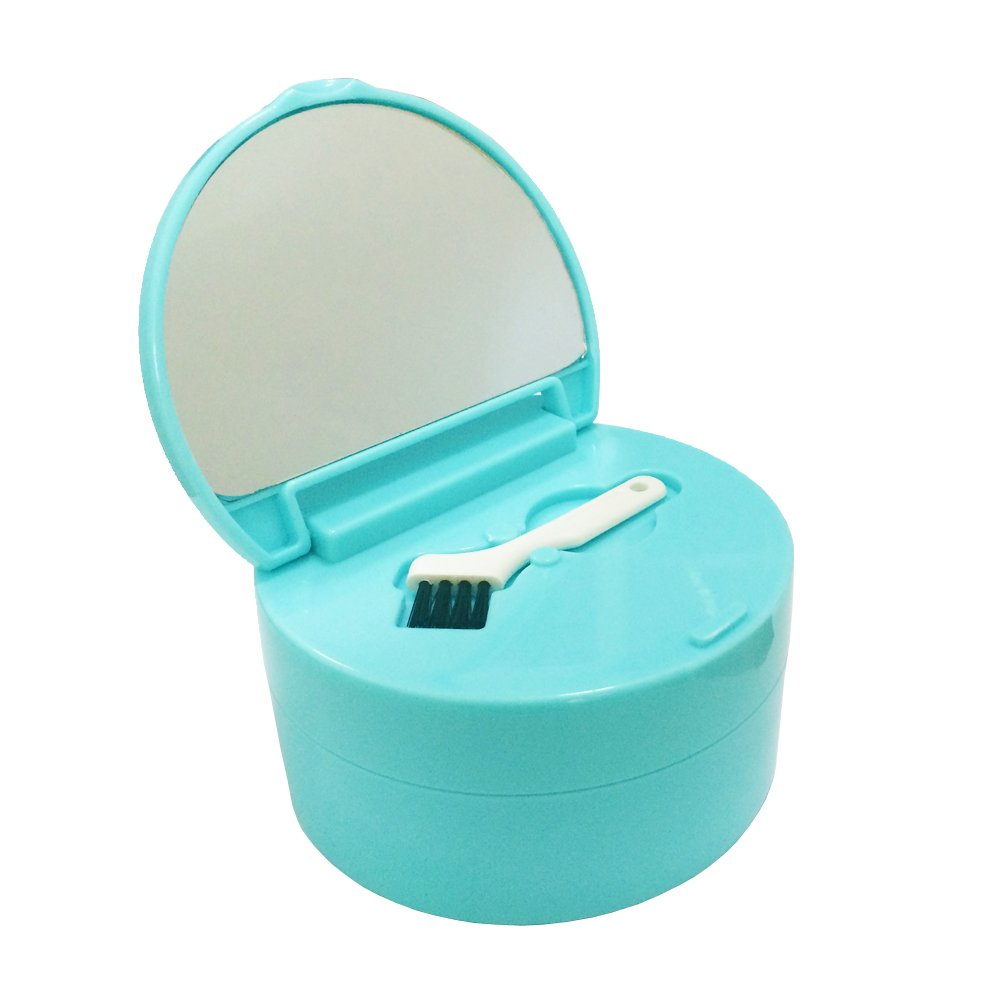 KNONGMAYI Easy Carry Waterproof Invisalign Retainer Denture Bath Appliance Denture Case