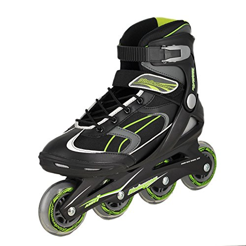 Bladerunner by Rollerblade Advantage Pro XT Men's Adult Fitness Inline Skate, Black and Green, Inline Skates,Size 11