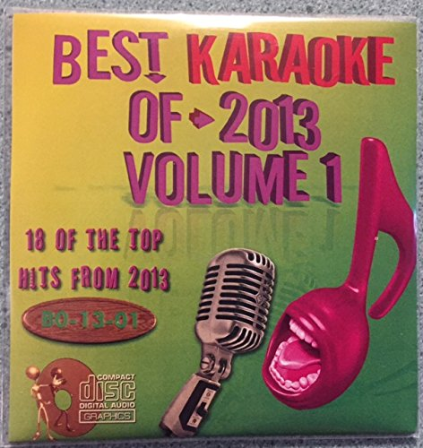 Best Of Karaoke 2013 Volume 1 CD+Graphics CDG 18 Pop & Country Tracks Pink Michael Buble Rihanna Justin Timberlake Lady Antebellum Tim McGraw Carrie Underwood One Direction Imagine Dragons and MORE!