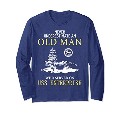 Uss Enterprise Navy - Unisex USS ENTERPRISE CVN-65 TSHIRT XL: Navy