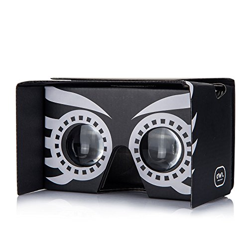 Owl Cardboard v2 VR Kit with Strap for Smartphones - Black