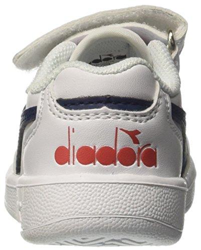 Diadora Playground TD, Zapatillas de Gimnasia Para Niños Blanco (Bianco Blu Estate)