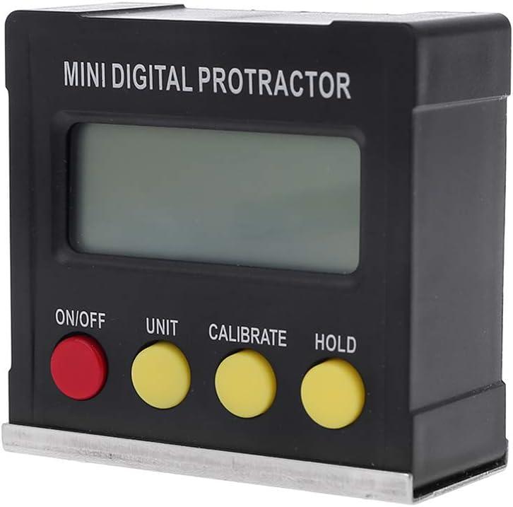 Kcnsieou 360 Gradi Peso Leggero Durevole Digitale Goniometro Inclinometro Elettronico Base Magnetica Strumenti di Misura