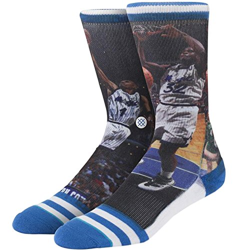 Stance Men's Shaq Penny Orlando Magic Crew Socks, Blue, Sock Size:10-13/Shoe Size: 6-12 from Stance