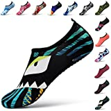 STEELEMENT. Water Yoga Shoes for Men Women Sports Socks Surfinf Shoes Stockings Hiking Climbing Swimming Athletic (L(US Size:Women:9.5-10.5,Men:8.5-9), WS41-40)