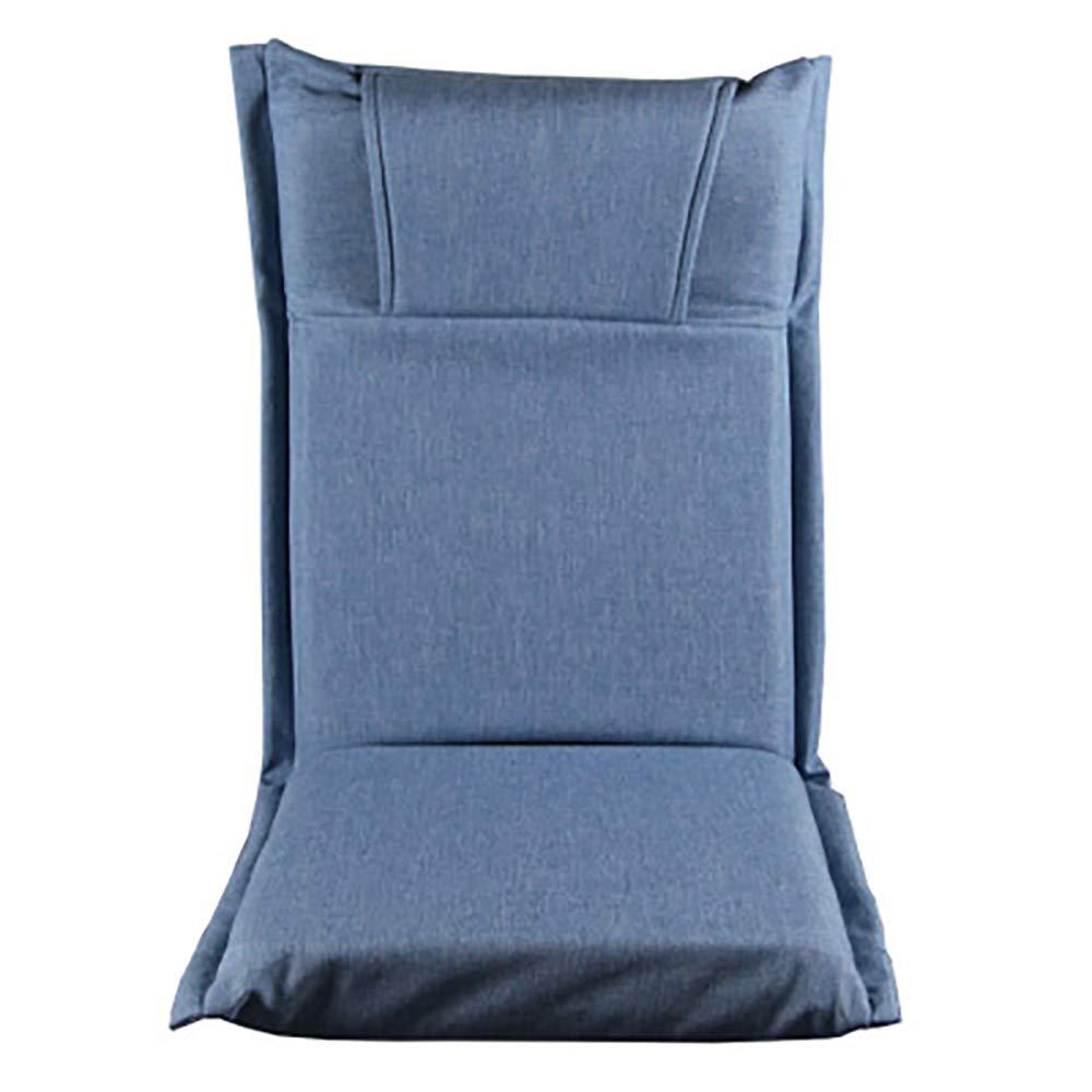 YYWDP Fauler Stuhl, tragbarer Klappbodenstuhl gepolsterter Bodenstuhl Verstellbarer Bodenstuhl Spielstuhl geeignet für Heimbüro Meditationslesung Spiele Spielen,C B