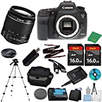 Canon EOS 7D Mark II DSLR with 18-55mm IS STM + 2pcs 16GB Memory Card + Camera Case + Card Reader + Tripod + 6pc ZeeTech Starter Set - International Version