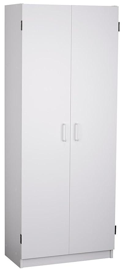 Amazon.com: System Build Flynn Wooden Storage Cabinet, White ...