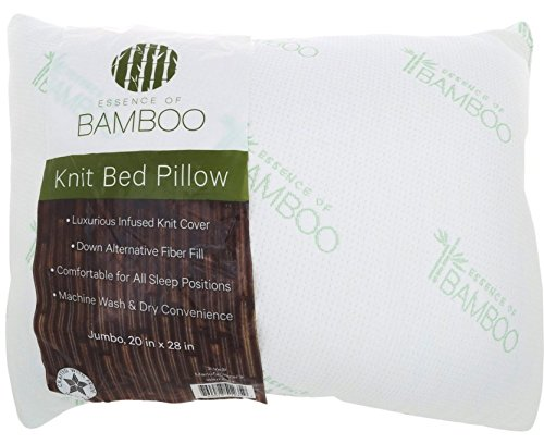 The Original ESSENCE OF BAMBOO Down Alternative Pillow Jumbo Size 20