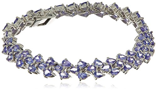 10.83 Carat Genuine Tanzanite .925 Sterling Silver Bracelet