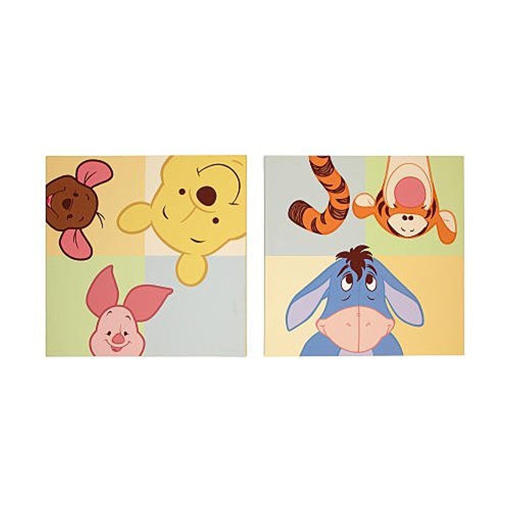 Amazon.com: Disney Baby - Peeking Pooh 2pc Canvas Wall Art: Posters ...