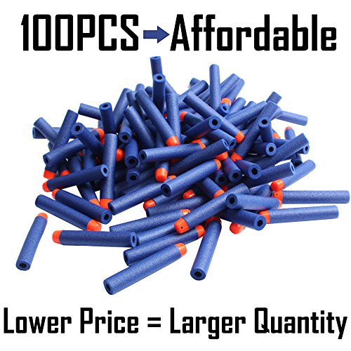 AMOSTING-Refill-Darts-100PCS-Bullets-Ammo-Pack-for-Nerf-N-Strike-Elite-Series--Blue