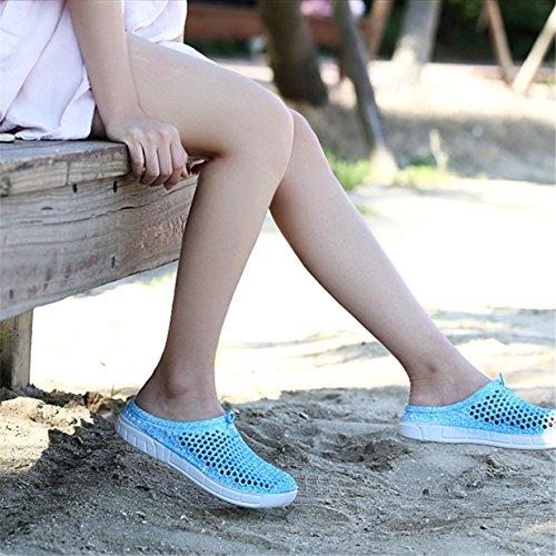 Bleu Perforés De Lalang Chaussons D'été Femme Sabots Sandales Chaussures Plage 7nRwqz