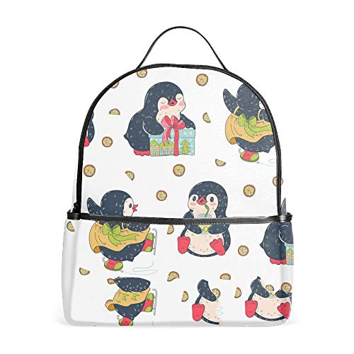 Penguins Travel Backpack Air Traveling Carry on Backpack for Man and Woman