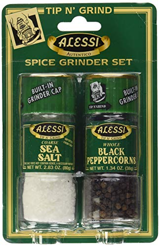 Alessi Salt & Pepper Grinders, Small, 4.17 Ounce