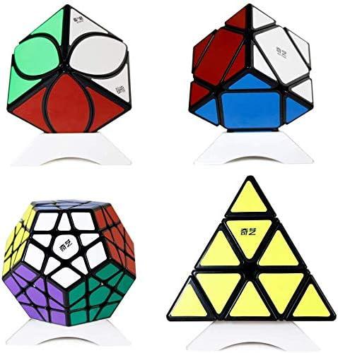 OJIN Speed Cube Bundle Megaminx & Skewb & Lvy Cube & Pyramid Bright Magic Cube Black con Embalaje de Regalo + Cuatro trípodes: Amazon.es: Juguetes y juegos