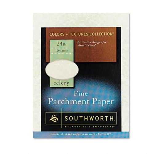 Southworth: цвета + текстуры Изысканные пергаментной бумагой, сельдерей, 24 фунтов, Letter, 100 в упаковке -: - Продавец, как 2 Кол-во - 100 - / - Всего 200 каждого
