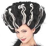 Forum Novelties Women's Deluxe Monster Bride Wig, Black/White, One Size