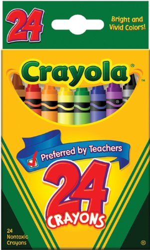 Crayons Tuck Box (Binney & Smith Crayola(R) Standard Crayon Set, Tuck-Box, Assorted Colors, Box Of 24in.)