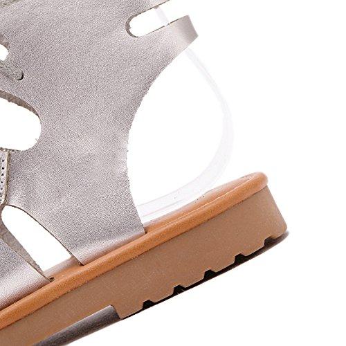Mujer Romana Negro Nuevos ZHZNVX Cruzadas 39 Zapatos Zapatos Sandalias de Planos Grandes vzzTw8Fq