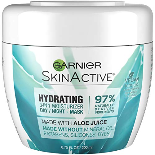 Garnier SkinActive 3-in-1 Face Moisturizer with Aloe, For Dry Skin,  6.75 fl. oz. (Aloe Vera Face Mask For Dry Skin)