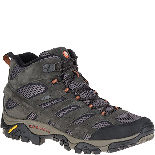 Merrell Men's Moab 2 Mid Waterproof Hiking Boot, Beluga, 11 M US