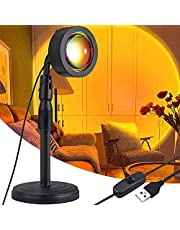 Sunset Projector Lamp ,180 Degree Rotation LED Projection Light Lamp USB Charging Height Adjustable Floor Stand Night Light for Living Room Bedroom Party Bar Decor (Sunset Red)