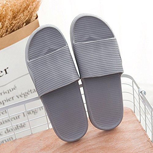 Non Bathroom Sole Shower Foams Men's Sandals Shoes Shoes Slip House Water Slip Mule Women On Soft Slippers Grey Pool qRZIqw