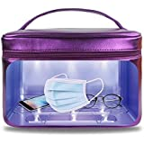 UV Portable Smartphone Sterilizer or Disinfection Box, 16 UV Lights Instantly Disinfect Tools, Face Mask, Keys, Jewelry…