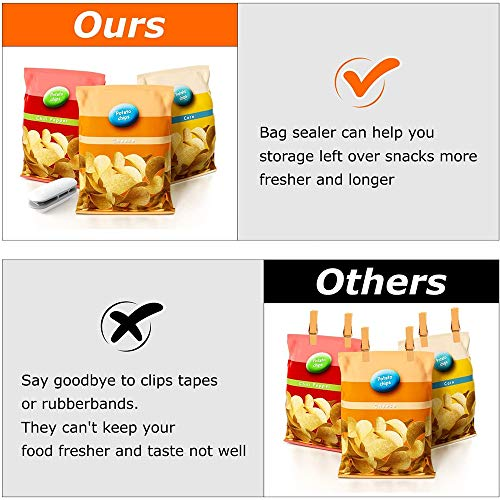 EKUPUZ 2 in 1 Mini Bag Sealer Package Sealing Machines Heat Sealer, Snacks Bags Tools Plastic Handy Portable Kitchen Storage Sealer