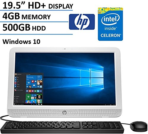HP Pavilion 19.5 Inch All-in-One Desktop Computer (Intel Celeron N3050, 4GB RAM, 500GB HDD, Wifi, DVD, Windows 10 Home) (Certified Refurbished)