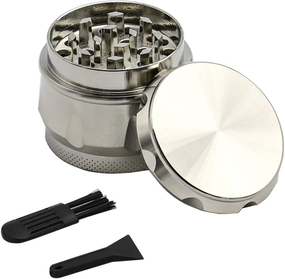 trituradora de aluminio de 1.5 pulgadas Trituradora de la hierba de la especia 4 c/ámaras