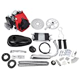 """gas engine kit for bicycle - Iglobalbuy 49cc Powerful Pull Start 4-Stroke Cycle Motor Kit Compete Gas Kit Motorized Bike Petrol Gas Bicycle Engine for 28"""" V frame Bike and 26"""" ATV"""
