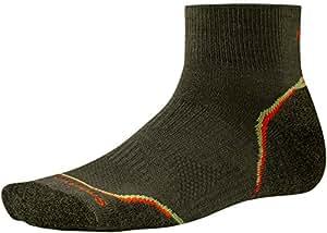 Smartwool Men's PhD Outdoor Light Mini Socks (Loden/ Bright Orange) X-Large- Past Season