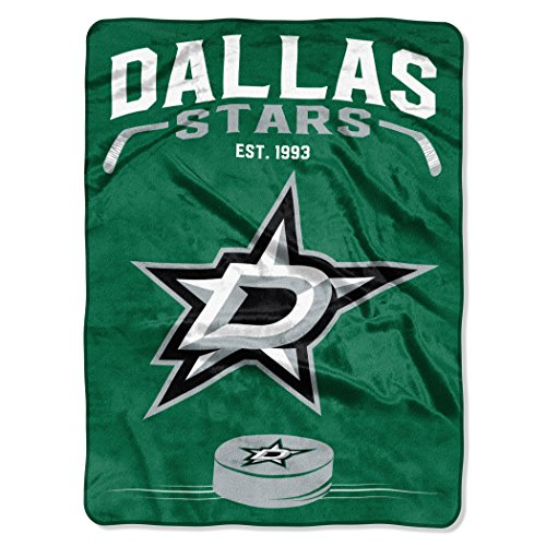 Officially Licensed NHL Dallas Stars Inspired Plush Raschel Throw Blanket, 60