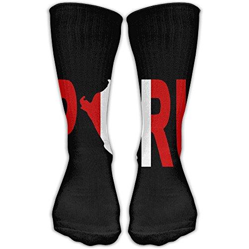 LKZD Peru National Flag Clipping Fashion Crew Socks Funny Casual Short Stockings One - Dress 2 Peru Fancy