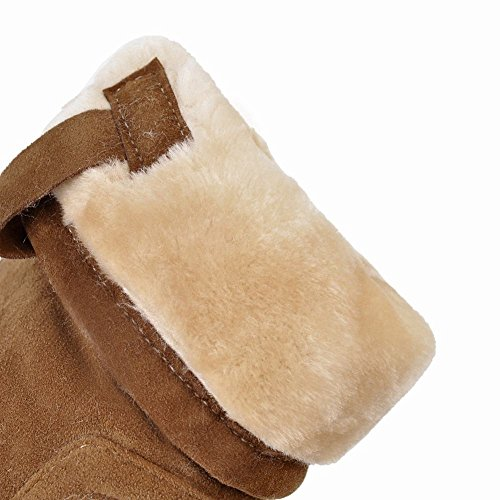 Latasa Dames Faux Nubuck Platte Korte Slouch Boots Camel