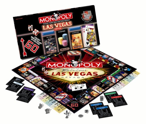 Usaopoly Las Vegas 2009 Monopoly Games (Video Poker Slot Machines)