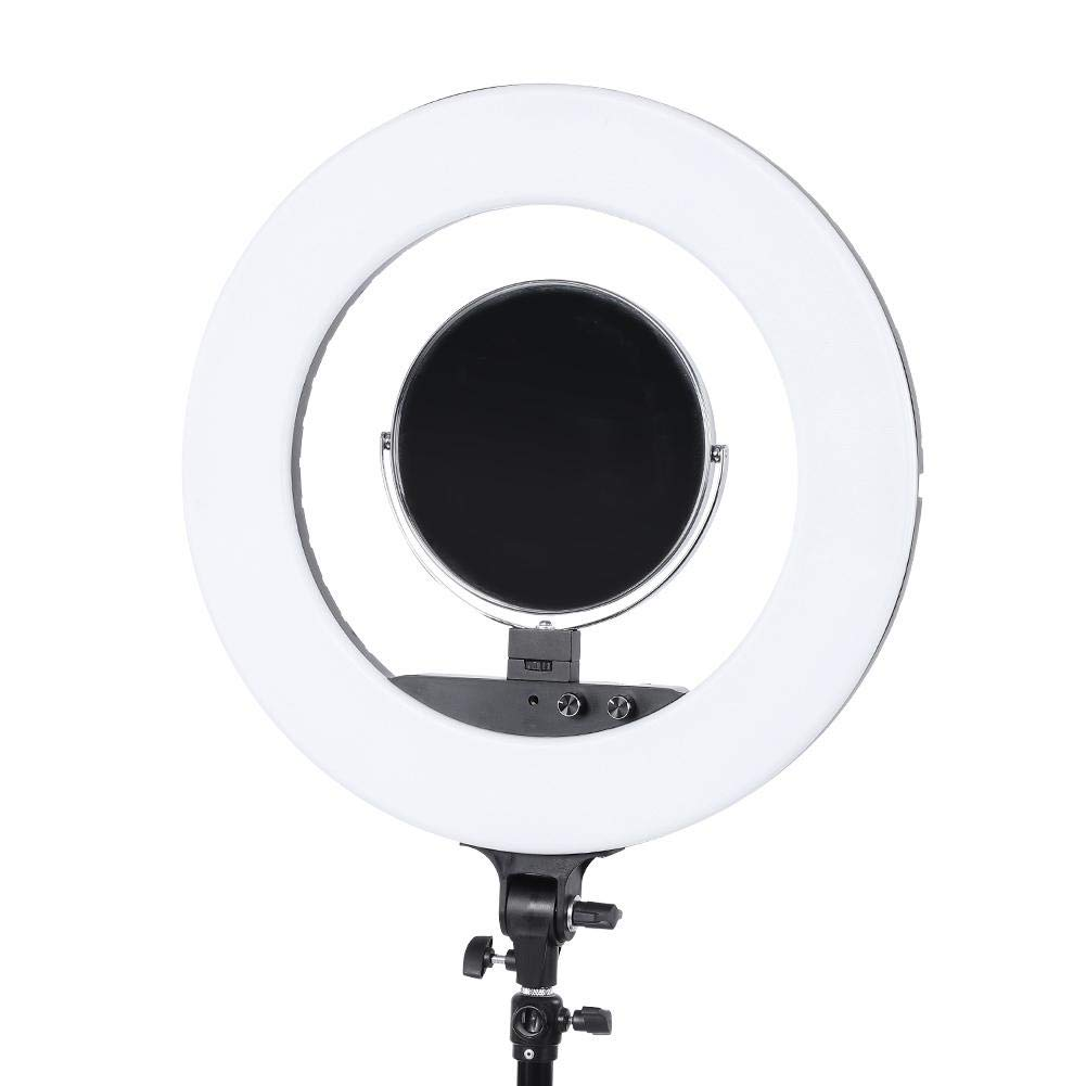 fosa Selfie Ring Light Mini 480LED Ring Shape Cell Pone Fill Light with Cell Phone Clip Portable Strap Carrying Bag Supplement Selfie Video Lamp for Live Stream Makeup LR-980A