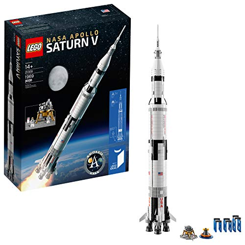 LEGO Ideas NASA Apollo Saturn V 21309 Outer Space Model Rocket for Kids and Adults, Science Building Kit (1900 pieces)]()