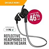 Bluetooth Headphones,Bluetooth Earbuds,Bluetooth Earphones - NEW ARRIVAL - 2016 Reflective Cable specially for running in the DARK - for iPhone 6s / 6s Plus/ 6 Plus / Galaxy S7/LG G5/Nexus 5X/6p