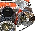 SBC Power Steering Bracket Pump Bracket Electric Water Pump Billet 350 Small Block Chevy Adjustable 551360