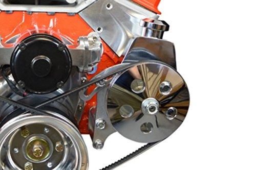 Power Steering Kit Small Block (SBC Power Steering Bracket Pump Bracket Electric Water Pump Billet 350 Small Block Chevy Adjustable 551360)
