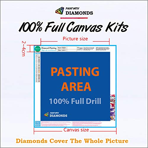 Diamond Painting Kits for Adults by Paint With Diamonds XL 60x40cm 'Eagle's Cry' Full Canvas Square Diamonds (Plus Free Premium Diamond Pen) by Paint With Diamonds (Image #3)