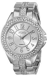 XOXO Women's XO5463 Rhinestone-Accented Silver-Tone Bracelet Watch